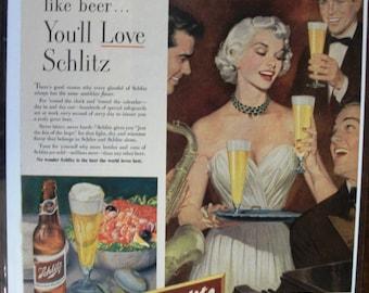 142 Schlitz  Beer Ad - 1952
