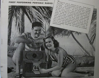 "Rad...131    ""Zenith Trans-Oceanic Portable Radio""  Ad - February 1947"