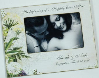 Personalized Engagement Frame, Wedding Day Frame, Custom Wedding Frame 4x6 / 5x7