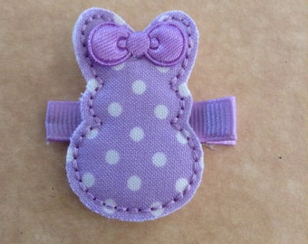 Purple Polka Dot Bunny Hair Clip, Pink Easter Bunny Hair Clip, Girls Bunny Hair Clip, Bunny Hair Clip, Easter Hair Clip, Toddlers Hair Clips