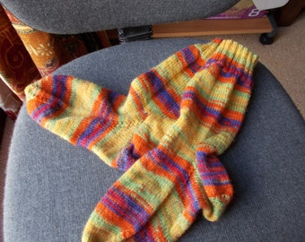 Smaller adult socks, Hand knitted smaller adult socks Unisex socks