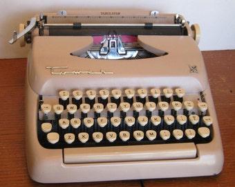 Vintage Pink Tower Tabulator Portable Typewriter