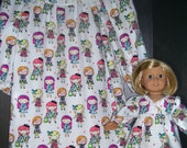 Cozy flannel matching nightgowns size..8  FREE SHIPPING