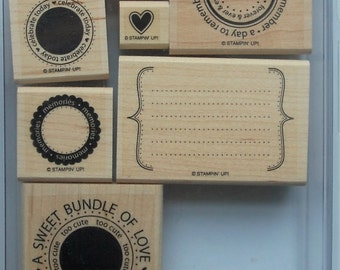 Stampin' Up! Sweet Celebrations Stamp Set (set of 8)
