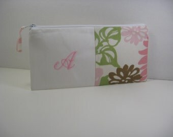 Embroidered Clutch - Personalized Clutch - Initial Pouch - Bridesmaid Clutch - Bridesmaid Gift - Made To Order