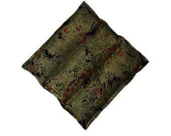 Hot Pad Scented Mug Rug Balsam Fir Channel Quilted Free USA Shipping Christmas Holly