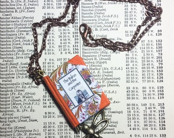 "Miniature book necklace ""the walrus and the Carpenter"""