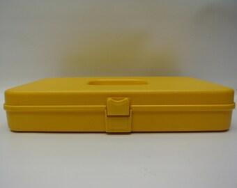 Sunshine yellow spool storage box