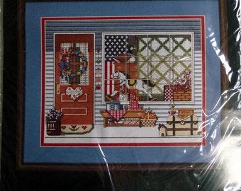 Bucilla Counted Cross-Stitch Kit, Antique Shoppe