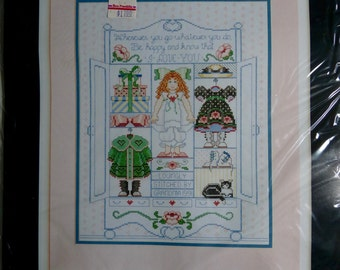 Bucilla Counted Cross-Stitch Kit #40514, The Doll's Cupboard