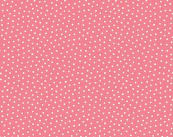 Paper Dolls Bakery Dots Pink, C4355-PINK, 1930s Reproduction Yardage, Sibling Arts Studio, Penny Rose Fabrics
