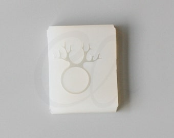 One Piece Silicone Mold For Ring or Loop - 17mm Inside Diameter - DIY Resin Ring Mold - Reindeer (3172C-A-195)