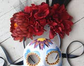 Estrella IV - Spectre Inspired Day of the Dead Masquerade Mask and Headdress Set