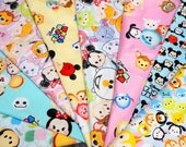 Disney Tsum Tsum fabric scrap set of 8 Pieces