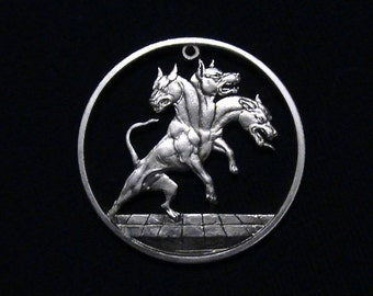 CERBERUS - First Time Cut! - Hand Cut From .999 1 oz. Copper Bullion Medallion