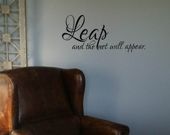 Leap and the net will appear Wall Decal