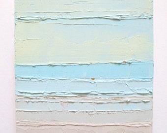 Abstract ocean painting: Parallel Horizons, ocean scene, beach, abstract art, beach art