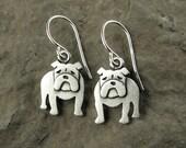 Tiny English bulldog earrings