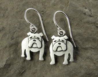 Tiny English bulldog earrings
