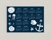 2017 Magnetic Calendar Nautical