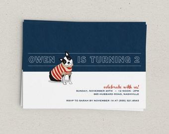 Preppy Dog Party Invitations