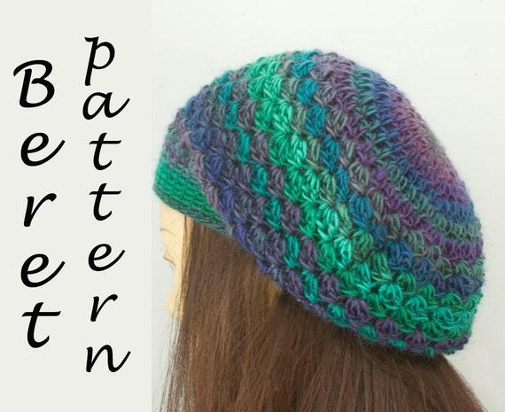 Crochet Beret Hat Pattern Easy : Beret Crochet Pattern Easy Crochet Hat Pattern Instant