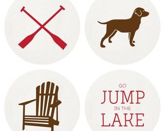 Letterpress Boxed Lake Life Coaster Set