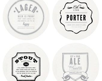 Letterpress Boxed Beer Coaster Set
