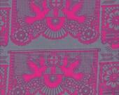 SALE - Free Spirit Fabrics Anna Maria Horner Pretty Potent Banner Days VOILE in Magenta - Half Yard
