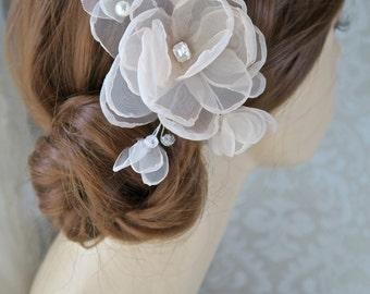 Blush Bridal Headpiece, Bridal Hair Flower Wedding Hairpiece, Wedding Flower Hair Comb, Bridal Hair Accessory, Wedding Hair Accessories
