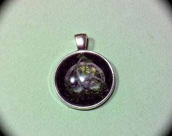 Domed Trinity Pendant DIY Craft supply, necklace bracelet key ring boho hippie, cottage chic retro