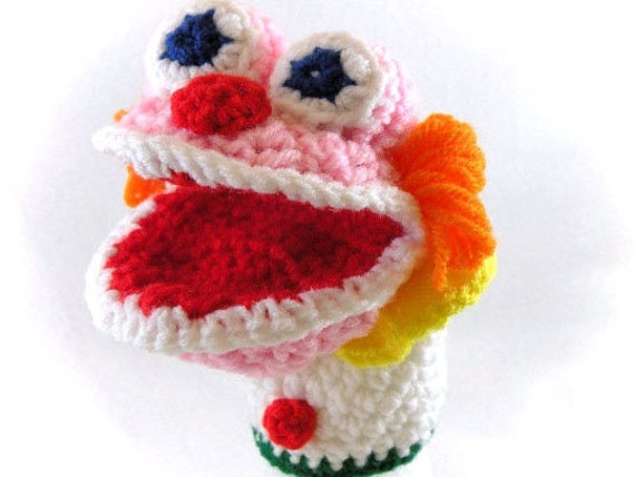 Happy Clown Little Kid's Hand Puppet - Made Just For Tiny Hands!