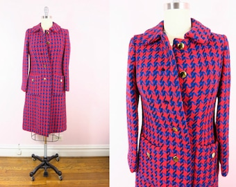 1960s Houndstooth Coat M