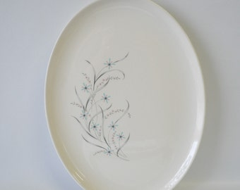 Vintage Windemere pattern Ever Yours by Taylor Smith & Taylor / retro mid century modern Oval Platter