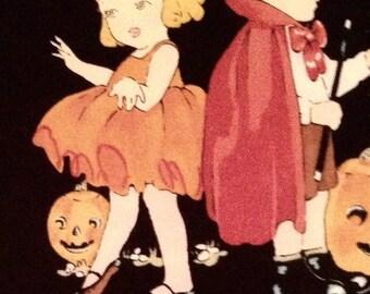 Halloween Vintage Inspired Alexander Henry Cotton Fabric REMNANT