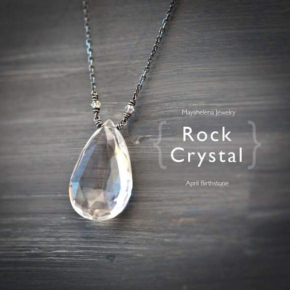 Simply Rock Crystal - Wire Wrapped Sterling Silver Necklace