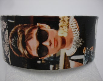 Audrey Hepburn Bracelet Decoupage Cuff Bracelet Breakfast at Tiffanys