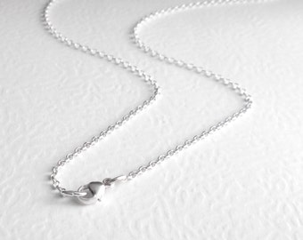 Sterling Silver Chain, 22 Inch Necklace Chain, Sterling Silver Rolo Chain, 56 cm