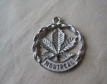 Montreal Canada Sterling Charm Silver Vintage 925