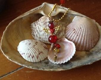 LYDIA  Guardian ANGEL Ornament, Rearview Mirror Jewel, Suncatcher, Car Gem, Purse Charm