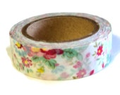 Floral Washi Tape, 15mm x 10m (over 32 ft.), Scrap Booking, Crafting