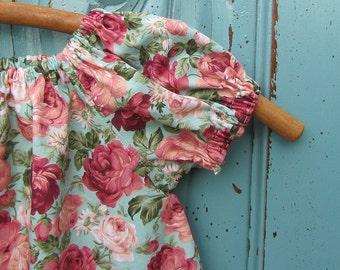 Floral Peasant dress, Girls dress, Summer dress, Spring dress, infant dress, toddler dress, Bohemian dress, sizes Newborn through  6X