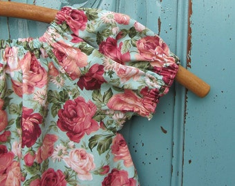 Girls peasant dress - girls dress - little girls peasant dress - short sleeve dress - vintage dress - Easter - bohemian dress - boho dress