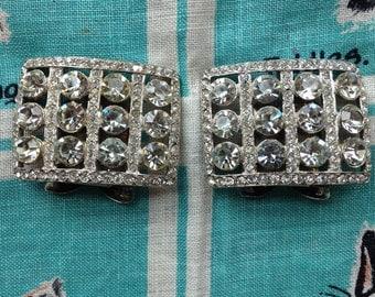Rhinestone shoe clips.