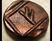 Attract Money, FEHU, Pocket Rune, Carry for good luck, Wiccan, New Age, Metaphysical, Viking, Polymer Clay, Abundance, One of a Kind