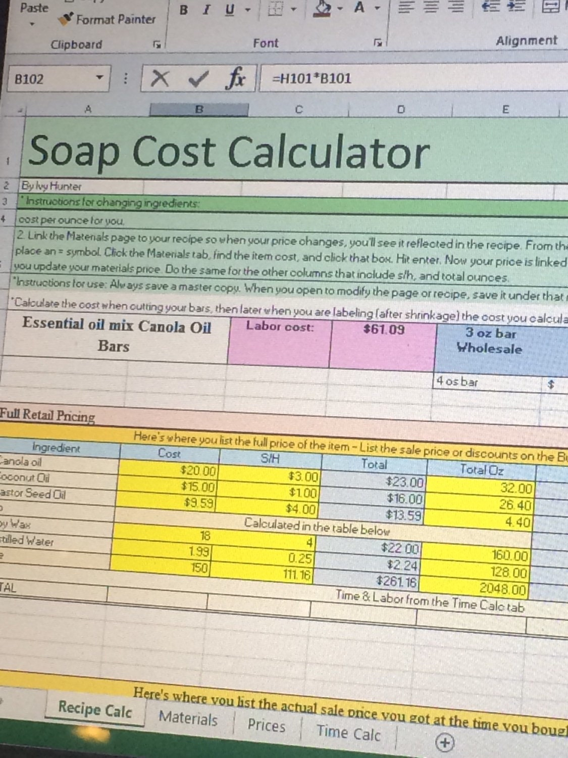 soap production costs Actual soap costs were used along with  results and our estimated mass  production cost of us$12.