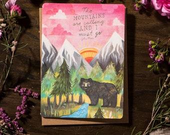 Mountains Calling - Greeting Card