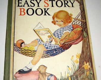 Antique (1927)  Children's Book  - Baby Bunting's Easy Story Book - Great Illustrations