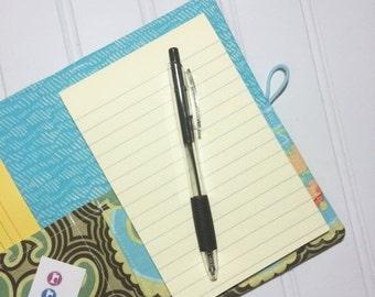SUMMER SALE - Mini Shopper - Notepad holder List taker - Amy Butler   - NEW optional leather spine