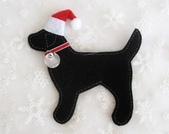 Black Lab North Pole Retriever Ornament - FREE Personalization